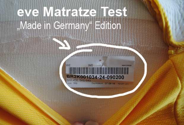eve Matratze die in Deutschland hergestellte Edition stellt das britische Pendant in den Schatten.